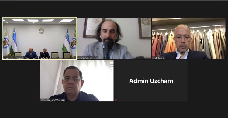 TDSD olarak Ozbekistan Deri Sanayicileri Derneği Uzcharmsanoat ile online olarak biraraya geldik.