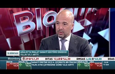 Bloomberg HD TV Haber B. Burak Uyguner 13.02.2020